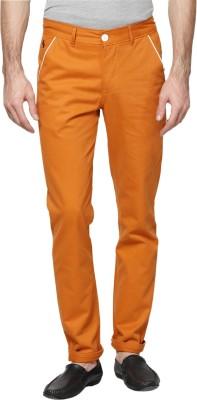 Hubberholme Slim Fit Men's Orange Trousers