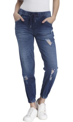 Vero Moda Regular Fit Women's Dark Blue Trousers at flipkart