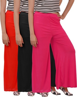 Ace Regular Fit Women's Black, Red, Pink Trousers