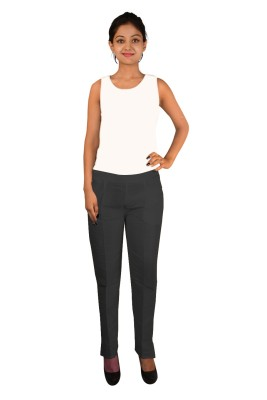 Vedache Regular Fit Women,s Black Trousers