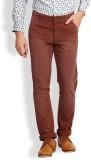 I-Voc Slim Fit Men's Brown Trousers