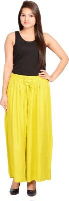 A&K Regular Fit Women's Green Trousers