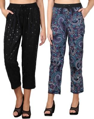 Nordic Bazaar Regular Fit Women's Black, Blue Trousers
