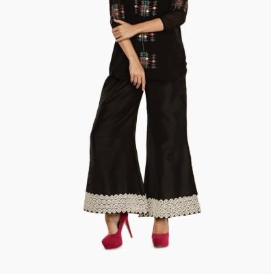 Navyou Regular Fit Women's Black, White Trousers