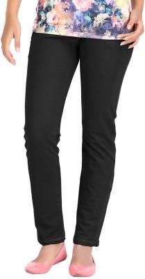 Hbhwear Slim Fit Women's Denim Black Trousers