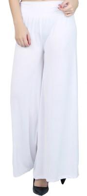 DAMEN MODE Regular Fit Women's White Trousers