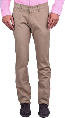 Cortos Regular Fit Men's Brown Trousers