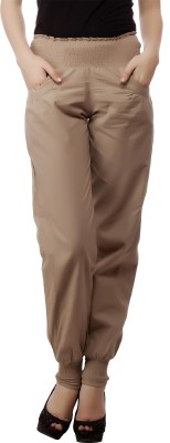 MansiCollections Regular Fit Women's Beige Trousers