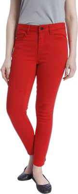 Only Skinny Fit Women's Red Trousers
