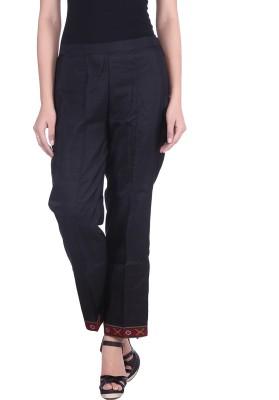 Indian Artizans Regular Fit Women's Black Trousers