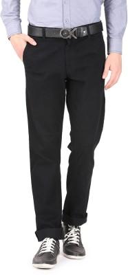 FR Slim Fit Men's Black Trousers