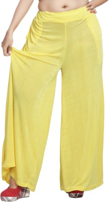 Comix Regular Fit Women's Yellow Trousers