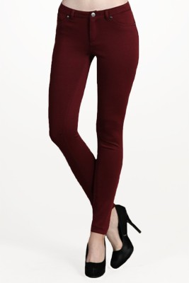 Revoure Regular Fit Women's Red, Black Trousers