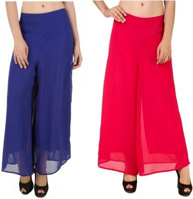 CHIKFAB Regular Fit Women's Blue, Pink Trousers