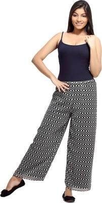Loco En Cabeza Regular Fit Women's Black, White Trousers