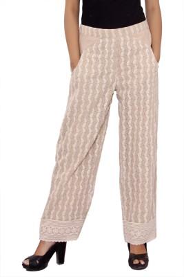 Hobz Regular Fit Women's Beige Trousers