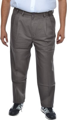ASABA Regular Fit Men's Grey Trousers