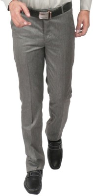 Shiksha Regular Fit Men's Grey Trousers