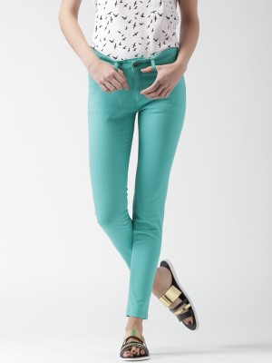 Mast & Harbour Regular Fit Women's Green Trousers at flipkart