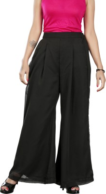 Twinkal Regular Fit, Slim Fit Women's Black Trousers