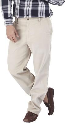Silkina Regular Fit Men's Beige Trousers