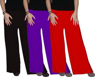 Ace Regular Fit Women's Red, Black, Purple Trousers