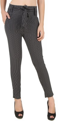 Mojeska Slim Fit Women,s Black Trousers