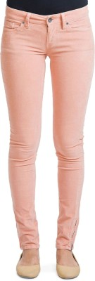 Bhane Slim Fit Women's Pink Trousers