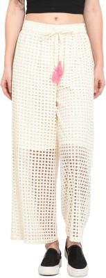 Rena Love Regular Fit Women's White Trousers