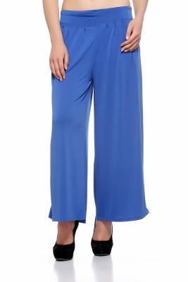 Fasnoya Regular Fit Women's Blue Trousers