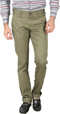 Easies Slim Fit Men's Dark Green Trousers