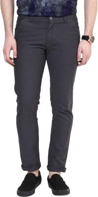 Rodamo Slim Fit Men's Grey Trousers