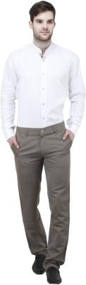 Feels Good Regular Fit Men's Grey Trousers