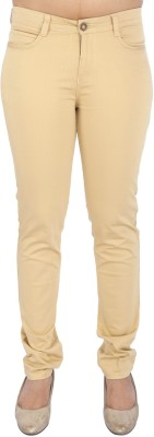 Airwalk Slim Fit Women's Gold Trousers