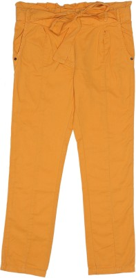 Elle Regular Fit Girl's Yellow Trousers