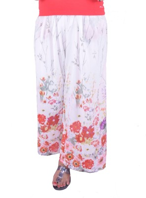 Eleganceranuka Regular Fit Women's White Trousers