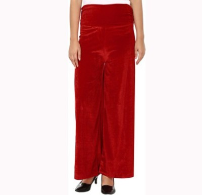Agrima Fashion Regular Fit Women's Red Trousers