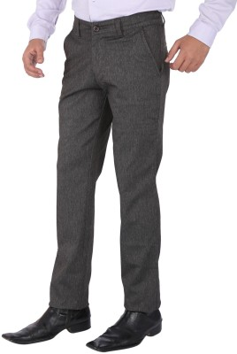 SAVINO Regular Fit Men's Multicolor Trousers