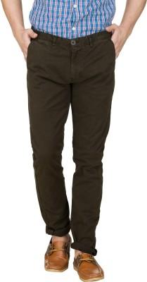 Zovi Slim Fit Men's Green Trousers