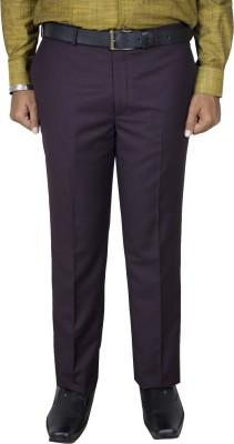Kinger Regular Fit Men's Maroon Trousers