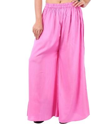 In-Trend Regular Fit Women's Pink Trousers