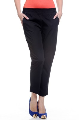 My Addiction Regular Fit Women's Black Trousers