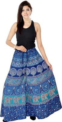 Jaipuri Bandhej Regular Fit Women's Blue Trousers
