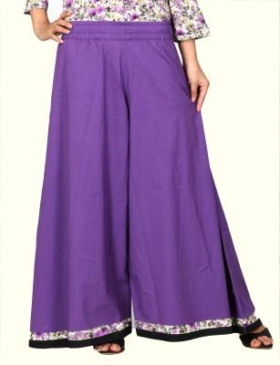 Lifestyle Retail Regular Fit Women's Purple Trousers
