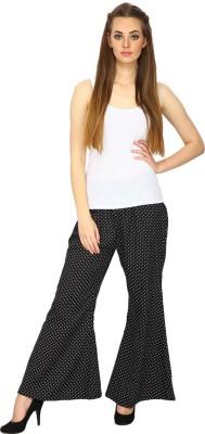 Ethnic Regular Fit Women's Black Trousers