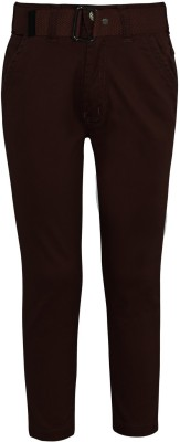 Jazzup Regular Fit Boy's Maroon Trousers