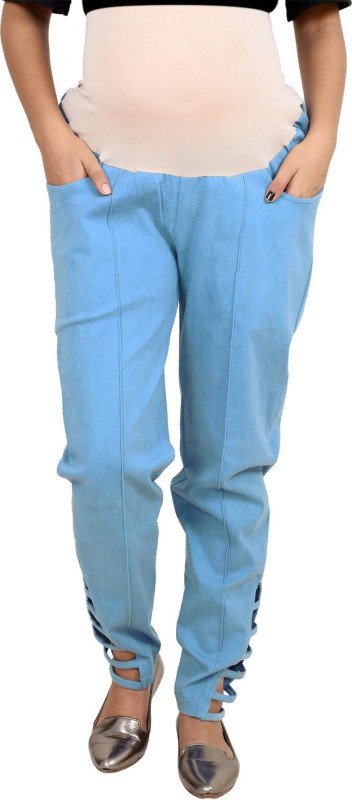 9teen Again Regular Fit Women's Blue Trousers