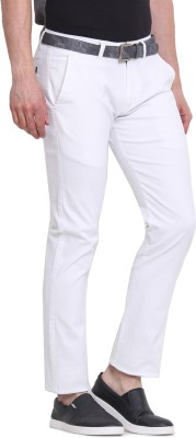 Virtue Slim Fit Men's White Trousers