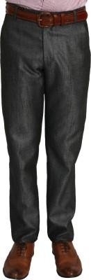 Bellavita Regular Fit Men's Grey Trousers