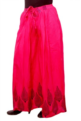 A&K Regular Fit Women's Pink Trousers